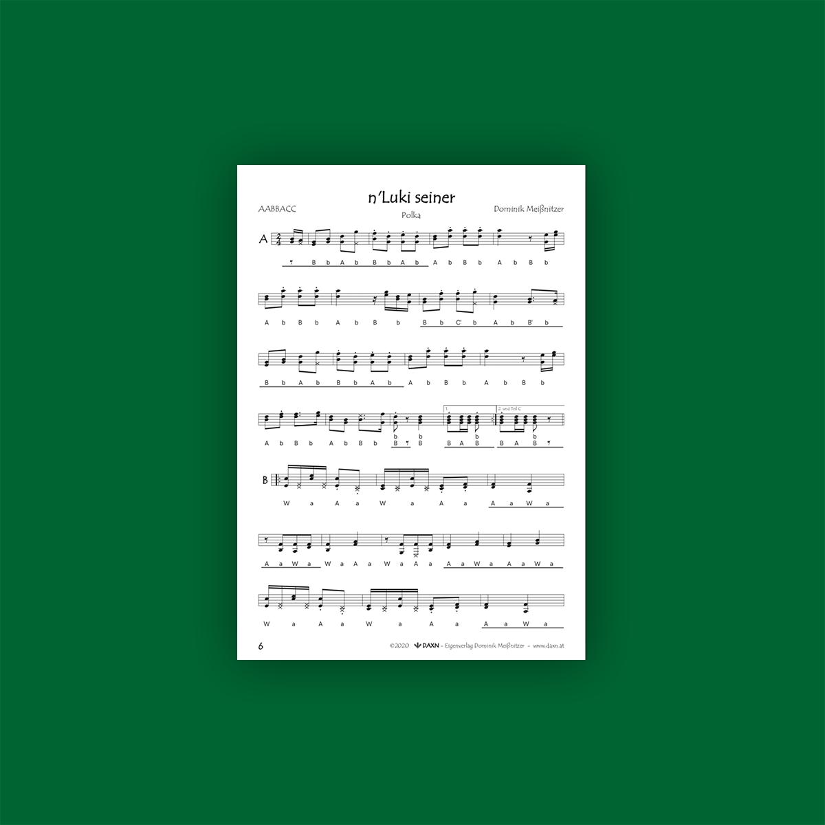 Harmonikastücke 2 Notenbeispiel 2